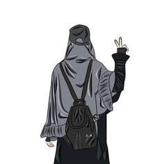 """Shofwatun Nida🥀النداء di Instagram """"🖤💬🖤💬🖤💬 . . Untuk perempuan Teruslah memperbaiki diri . Teruslah memantaskan diri . Percantiklah dirimu dengan akhlak yang baik, perindah…"""" Girly Pictures, Pretty Pictures, Mode Hijab, Hijab Dp, Mother Daughter Art, Quran Wallpaper, Hijab Drawing, Prince Zuko, Rage"""