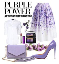 """International Women's Day: Purple Power"" by pramesvvari on Polyvore featuring Steffen Schraut, Chicwish, Lancôme, Maybelline, Christian Louboutin, Urban Expressions, purplepower, internationalwomensday and pressforprogress"