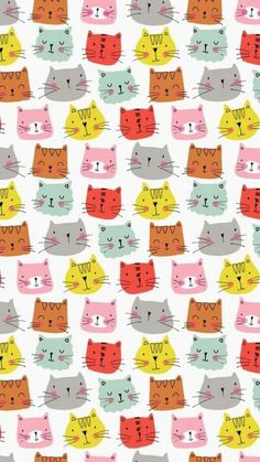 Cats Wallpaper Iphone Pattern Kitty 58 Ideas For 2019 - Cats -♡- Cat Wallpaper Cat Pattern Wallpaper, Cats Wallpaper, Wallpaper Backgrounds, Iphone Wallpaper, Cat Background, Background Drawing, Comic Cat, Cat Comics, Image Cat