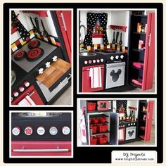 This is AMAZING! DIY project kitchen from old furniture, goes to show what a little creativity can accomplish!