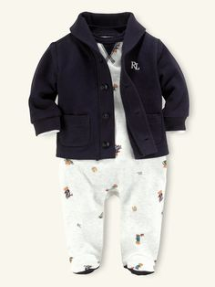 9086ebf4e8812 So cute! What a precious little man he will be in this Jacket and overalls  · Cute Baby Boy ...