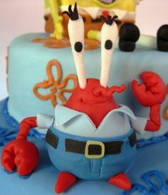 Mr. Crabs fondant figure  porcelana fria masa flexible pasta francesa figurine topper modelado modelling fondant