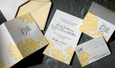 Sunny white yellow and black letterpress wedding invitations Styles, Weddings, Wedding Ideas, Letterpress Wedding Invitations, Wedding Calligraphy, Wedding Stationary, Calligraphy Writing, Yellow Wedding Invitations, Floral Invitation, Invitation Suite, Invitation Ideas, Fine Stationery