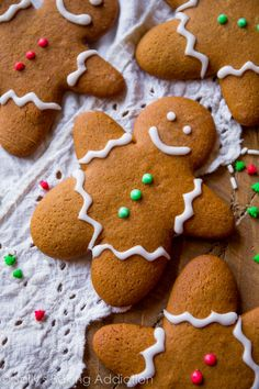 My favorite gingerbread cookie recipe! Soft in the centers, crisp on the edges, and so much flavor!!