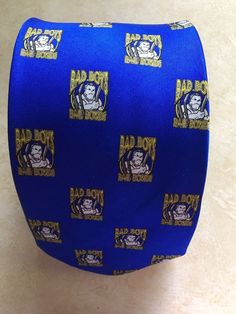 Bad Boys Bail Bonds 100% Silk Handmade Royal Blue Novelty Print Necktie    eBay