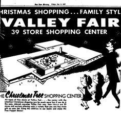 1960's mercury news ad for Xmas shopping at valley fair