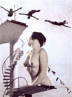 Toyen, Schlafende, 1937.    Toyen was a Czech avant garde surrealist artist who worked mainly with erotic subject matter. Her style (of photo collages) seems to have been an influence on Linder Sterling.