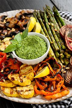 Miso-Butter Grilled Veggies with Basil-Mint Pesto. @Brenda Score | a ...