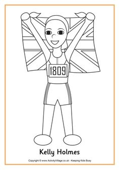 kelly holmes colouring page