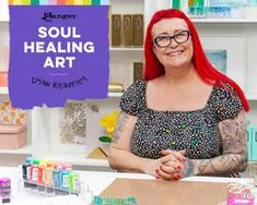 Soul Healing Art with Dyan Reaveley Craft Projects For Adults, Soul Healing, Ranger Ink, Scrapbook Supplies, Scrapbooking, Collage Sheet, Free Classes, Art Journaling, Mixed Media