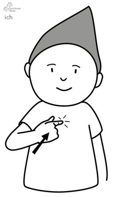 ich Babyzeichen Babyzeichensprache Gebärdensprache Babygebärden Kindergebärden GuK