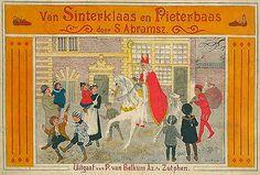 Boek : Van Sinterklaas en Pieterbaas, Simon Abramsz, 1919 (met PhotoFiltre bijgewerkte afbeelding)