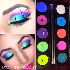 Urban Decay electric palette amazing colors by @magnifiedbeauty on Instagram
