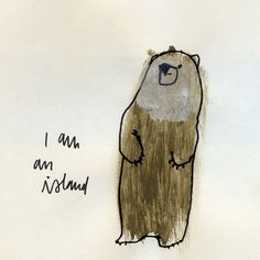 I Am An Island print by Jen Ray.  love it.