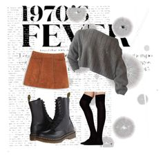 """""""Untitled #16"""" by sarahuska on Polyvore featuring Komar, MANGO, Dr. Martens and Free People"""