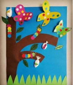 Life of cycle butterfly craft idea for kids | Crafts and Worksheets for Preschool,Toddler and Kindergarten