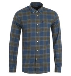 Barbour Highland Check Tailored Navy Shirt Smart Casual Shirts, Shirt Outfit, Shirt Dress, Button Down Collar, Winter Sale, Check Shirt, Your Style, Mens Fashion, Moda Masculina