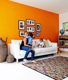 you can paint only one wall with some attractive contrast colors