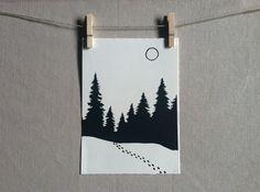 """Képtalálat a következőre: """"christmas snow linocut"""" Lino Art, Linoleum Block Printing, Litho Print, Art For Art Sake, Linocut Prints, Xmas Cards, Texture, Wood Print, Making Ideas"""