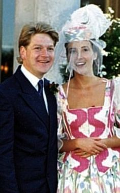 Emma Thompson & first husband Kenneth Branagh on their wedding day in 1989