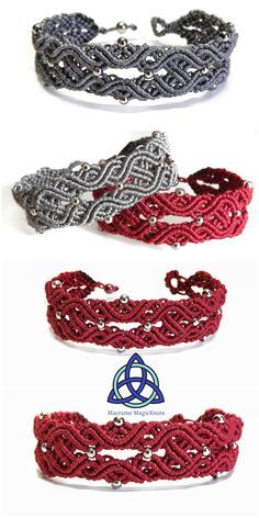 Most up-to-date Pictures Macrame bracelets celtic Thoughts In this Macrame tutorial video you will see how to make Macrame Bracelet Celtic Knot Design Macrame Bracelet Patterns, Macrame Bracelet Tutorial, Macrame Necklace, Macrame Patterns, Macrame Jewelry, Macrame Bracelets, Macrame Knots, Loom Bracelets, Chainmaille Bracelet