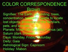 Brown is the grounding color of Capricorn. <3