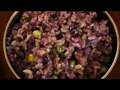 Multigrain Rice (Japgokbap) recipe - Korean purple rice. Try swapping peas for red beans.