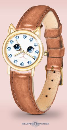 What time is it? It's always Cat O-Clock with this fanciful feline fashion jewelry. If you are looking for unique cat jewelry, this precious cat watch is something to meow about.