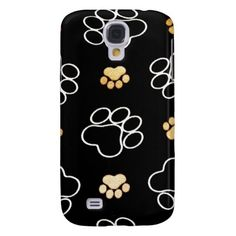 Dog Puppy Paw Prints Gifts for Dog Lovers Samsung Galaxy S4 Cases