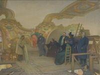 Georges CASTEX, (Collioure, 1860 - Toulouse, 1943), L'Atelier de Paul Pujol à la salle des Illustres, 1896, Inv. 49 6 42. Non exposée. © Ville de Toulouse - musée des Augustins