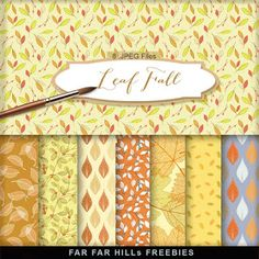 New Freebies Kit of Autumn Backgrounds - Leaf Fall:Far Far Hill - Free database of digital illustrations and papers