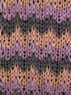 Tricolor Wave Stripes - Knittingfool Stitch Detail