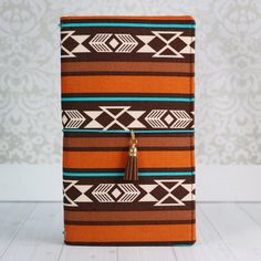 Fabric Traveler's Notebook in Brown Aztec
