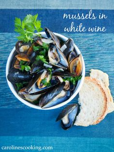 mussels in white wine - incredibly quick and easy, but so delicious
