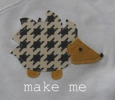 Hedgehog applique tutorial - a guest post by Mama Monster at Megity's Handmade.