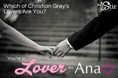 I took QUIZ: Which of Christian Grey's Lovers Are You?and got You're Anastasia Steele!. Take the quiz on The Stir to see what you get!
