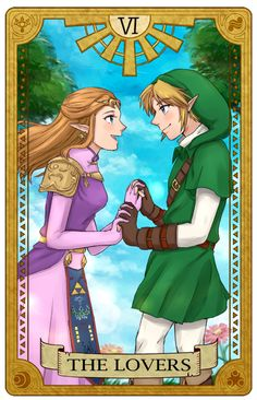 Zelda Tarot Card -- <3
