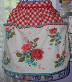 vintage table cloth apron