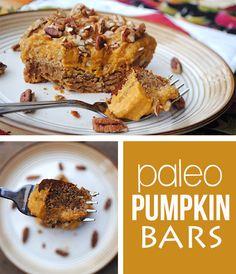 Paleo Pumpkin Bars - Fit Foodie Finds