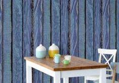 Wall Mural Blue Bars (source Eijffinger) Fabric Wallpaper Australia / The Ivory Tower Wood Effect Wallpaper, Lines Wallpaper, Unique Wallpaper, Fabric Wallpaper, Blue Bar, Blue Wallpapers, Painted Paper, Designer Wallpaper, Wall Murals