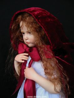 """""""Red Cape"""" by Elisa Gallea is a OOAK sculpted doll from 2011."""