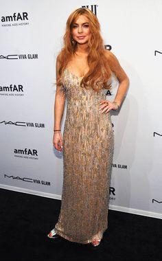 Lindsay Lohan at amfAR gala Bad Dresses, Prom Dresses, Formal Dresses, Charlie Sheen, Lindsay Lohan Feet, Viva Glam, Teen Choice Awards, Mean Girls, Celebrity Style