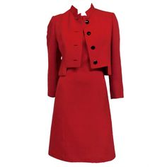 Gary Keehn 60s Wool Military-Inspired Dress and Jacket