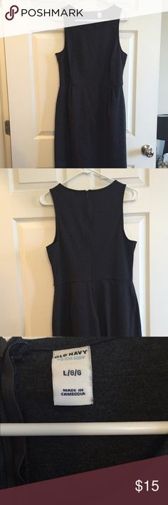 Dark grey sheath dress Large Old Navy dark grey dress. Great style for work. Looks great under a blazer, jacket or cardigan. Zipper in the back to easily put it on and take it off. Length is just above the knees. Material has some stretch to it. Old Navy Dresses Mini