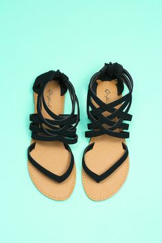 Black Strappy Sandal | uoionline.com: Women's Clothing Boutique