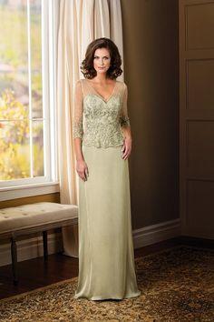 Custom Made 2017 Sheath Modern Mother Of Bride Dress V Neck Sheer 3 4