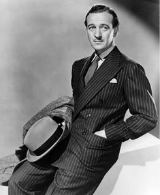 David Niven, Mens Fashion Shoes, Ten, Mens Suits, Attitude, Suit Jacket, Hollywood, Actors, Elegant