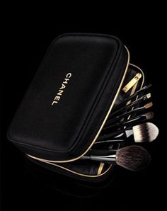 I have this travel set with this cute Chanel bag and I love it! Chanel brushes are great and a key to making your makeup looking effortless and flawless! -Annelise