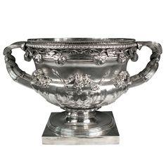 "Sterling Silver ""Warwick Vase"" bowl. English, 1818"
