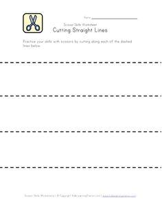 Scissor Skills - Practice Cutting Lines Scissor Practice, Cutting Practice, Scissor Skills, Cutting Activities, Preschool Activities, Physical Activities, Dementia Activities, Learning Stations, Kids Learning